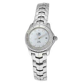 Ladies Tag Heuer Link WJF1319-0 Steel MOP Diamond Date 200M Quartz 27MM Watch