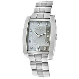 Ebel Tarawa Ladies Steel Diamond MOP Watch Quartz 28MM E9656J21