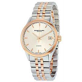 Men's Raymond Weil Freelancer 2740-SP5-65011 Steel Gold Automatic 42MM Watch