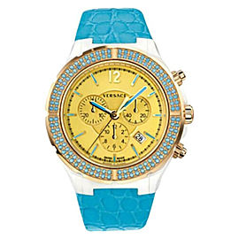 New Versace DV One Cruise 28CCP12D585 S531 Ceramic 42MM Topaz Turquoise Watch