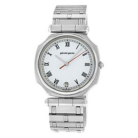 New Unisex Gerald Genta Retro Classic G.3329.7 Stainless Steel 33MM Quartz Watch