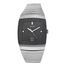 New Men's Rado Sintra R13777702 Ceramic Diamond 35MM Date Quartz $3,150 Watch