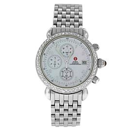Ladies' Michele CSX 71-4000/5000 Steel MOP Diamond Quartz 36MM Watch