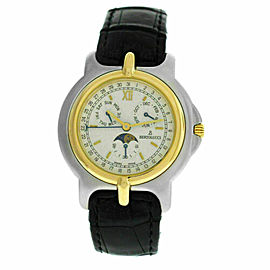 Unisex Bertolucci Pulchra 225.8050.49 Calendar Moon Steel Gold Quartz 36MM Watch