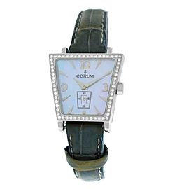 Ladies Corum Trapeze 105.404.47 Steel Diamond MOP Quartz Watch