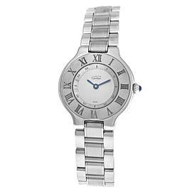 Ladies' Cartier Must de Cartier 1340 Quartz Stainless Steel 28MM Watch