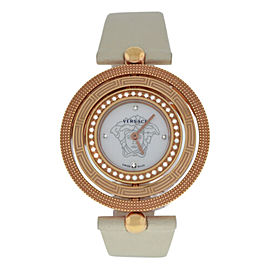 Versace EON 80Q81SD498 S002 Gold Tone Diamond Quartz 38MM MOP Watch