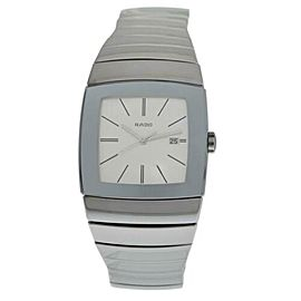 New Men's Rado Sintra R13720122 Ceramic 32MM Date Quartz $2,500 Watch