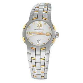 New Lady Maurice Lacroix Milestone MS1013-PS103-110 Steel $2200 Quartz Watch