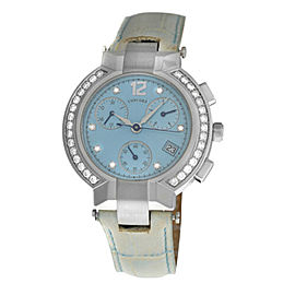 Ladies Concord La Scala 14.CS.1891.S Steel Diamond Chrono Quartz 38MM Watch