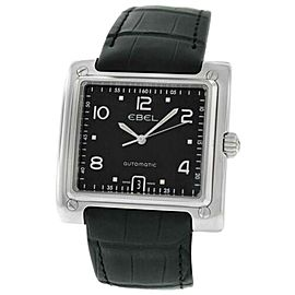 Men's Ebel 1911 La Carree 9120143 Watch Steel 40MM Automatic $3,495