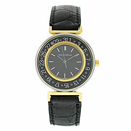 Unisex Girard-Perregaux Integrale Steel Gold 32MM Date Quartz See Through Watch