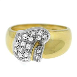 Damiani 18K Yellow White Gold Diamond Size 8 $2,900 Ring Model: DAN29893