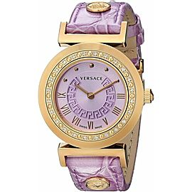 Versace Vanity Ladies Gold Tone Diamond Quartz 35MM P5Q81D702 S702 Watch