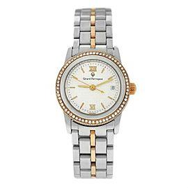 Ladies Girard-Perregaux GP90 Ref. 1300 Steel Rose Gold Diamond 25MM Quartz Watch