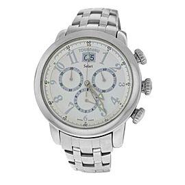 Mens Tourneau Safari Pilot Big Date S32040 43MM Quartz Chrono Watch