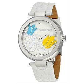 New Versace Mystique White Floral I9Q99SD1TU S001 Quartz 38MM Watch