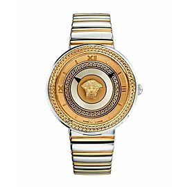 Unisex Versace V-Metal Icon VLC080014 Gold Electroplated Steel Quartz 40MM Watch