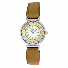 Ladies Girard-Perregaux Integrale Steel Gold Date 26MM Quartz See Through Watch
