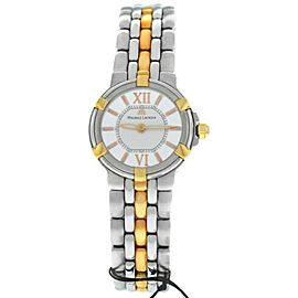 New Lady Maurice Lacroix Calypso CA1102-PS105-110 Gold Steel $2200 Quartz Watch