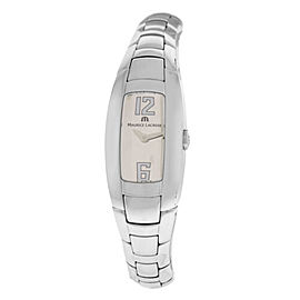New Lady Maurice Lacroix Intuition IN3012-SS002-820 Steel Quartz $1000 Watch