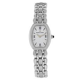 New Lady Maurice Lacroix Selena SE4012-SS002-110 Steel $800 Quartz Watch