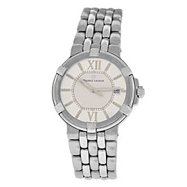 New Men's Maurice Lacroix Calypso CA1107-SS002-110 Steel $1400 Quartz 38MM Watch