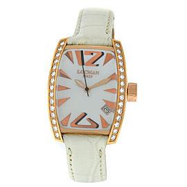 New Locman Panorama 18K Rose Gold Diamond MOP Ladies' Ref. 153 Quartz 28MM Watch