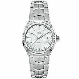 Tag Heuer Link Diamonds MOP Stainless Steel WBC1314 Quartz Watch