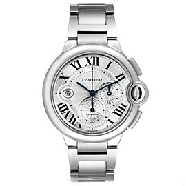 Cartier Ballon Bleu XL 3109 W6920077 Men's Steel Chronograph Date 44MM Watch