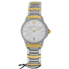 New Ladies Maurice Lacroix Miros MI1053-SY023-120 Steel Gold $1500 Quartz Watch