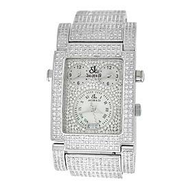 Jacob & Co Capri 3 Time Zones MOP 6.8 Carats Diamond Quartz 32MM x 43MM Watch