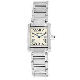 Cartier Tank Francaise 2384 W51008Q3 Ladies' Stainless Steel Quartz 20MM Watch