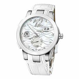 Ulysse Nardin Executive Dual Time 243-10/691 Diamond MOP Steel Automatic Watch