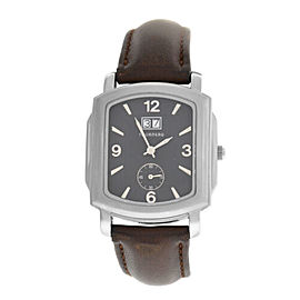 Men's Tourneau 409G-K02 Steel Date 35MM Quartz Watch