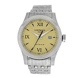 New Locman Island Men's Titanium Stainless Steel Ref. 614 Quartz 40MM Watch