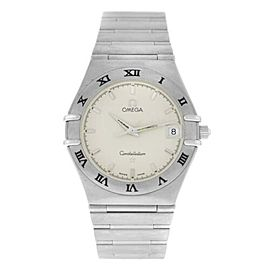 Omega Constellation Men's Unisex Steel Date 34MM Quartz Watch 1512.30