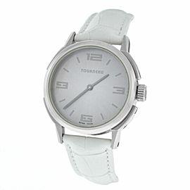 Ladies Tourneau TNY 350701 Steel 35MM Quartz Date Watch