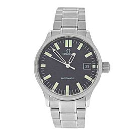 Midsize Omega Dynamic 5203.51 Steel Black Waffle Dial Automatic 36MM Watch