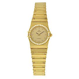 Ladies' Omega Constellation Diamonds 18K Yellow Gold Quartz 22MM Watch