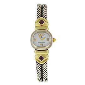 Ladies' David Yurman Thoroughbred Silver MOP Cable Bracelet 21MM Quartz Watch