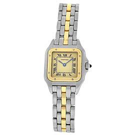 Cartier Panthere 1057917 Ladies' Steel 18K Gold One Row 22MM Quartz Watch