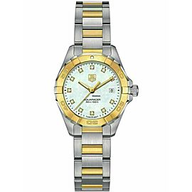Ladies Tag Heuer Aquaracer WAY1451.BD0922 Steel Gold MOP Diamond Date 27MM Watch