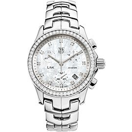 Ladies' Tag Heuer Link CJF1314 Stainless Steel Diamonds 32MM Quartz Watch