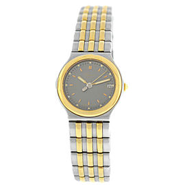 Ladies' Chopard Monte Carlo 8107 18K Gold Steel Quartz Date 23MM Watch