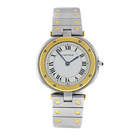 Cartier Santos Ronde Men's Unisex 32MM 18K Yellow Gold Quartz Watch