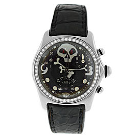 Unisex Corum Bubble Jolly Roger Mid Size 35MM 196.161.47 Diamond Quartz Watch