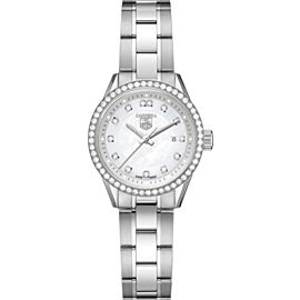 Tag Heuer Carrera Ladies' Diamond MOP Steel WV1413 Quartz 28MM Watch