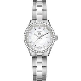 Tag Heuer Carrera Ladies' Diamond MOP Steel WV1413 Quartz 28MM Watch