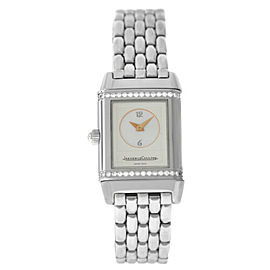 Piaget Jaeger-Lecoultre Reverso Duetto 266.8.44 Steel MOP Diamond Watch